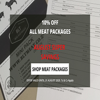 10% OFF All Meat Packages