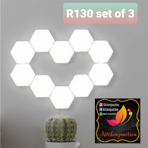 LED wall light- set of 3